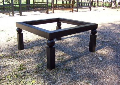 Cocktail Table. Ball and tubing