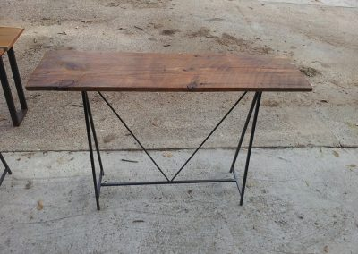 Reclaimed Pine and Steel Table